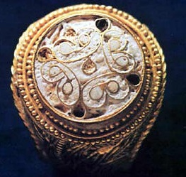 ancient enameling ring