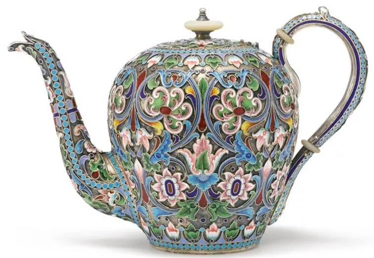 celled enameling tea pot