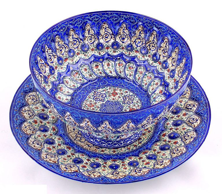 Enameling bowl and plate